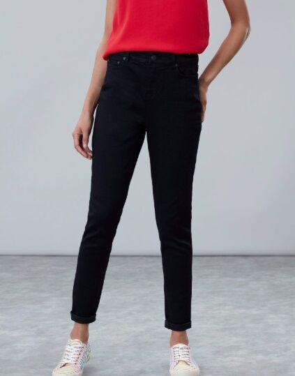 Joules Monroe High Rise Skinny Jeans Black