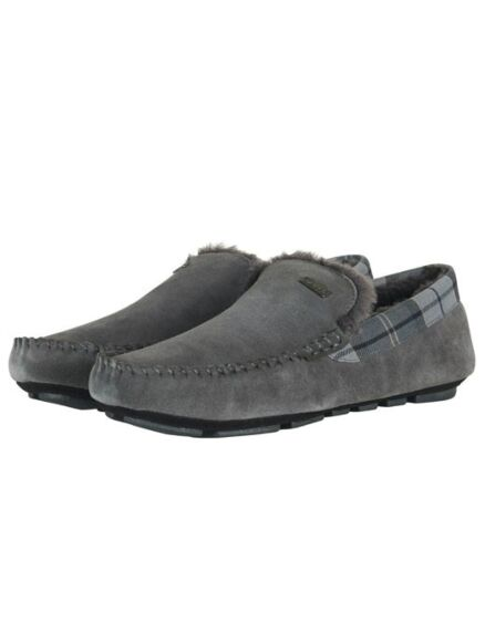 Barbour Monty Slippers Dark Grey Suede