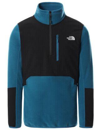 The North Face Men's Glacier Pro 1⁄4  Zip Fleece Pullover Moroccon Blue
