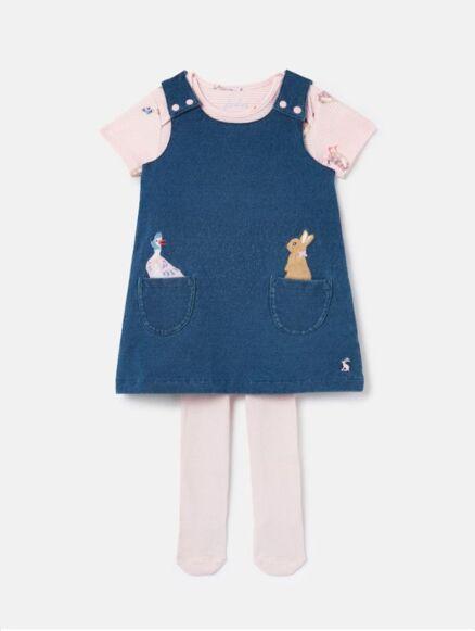 Joules Peter Rabbit Miya Pinafore Dress Set
