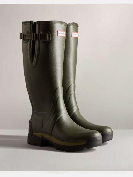 Hunter Men's Balmoral Side Adjustable Neo Tech Sole Boot Dark Olive