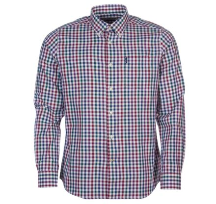 Barbour Country Check 6 Tailored Shirt Plum