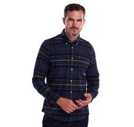 Barbour Lustleigh Tailored Fit Shirt Navy Marl Tartan