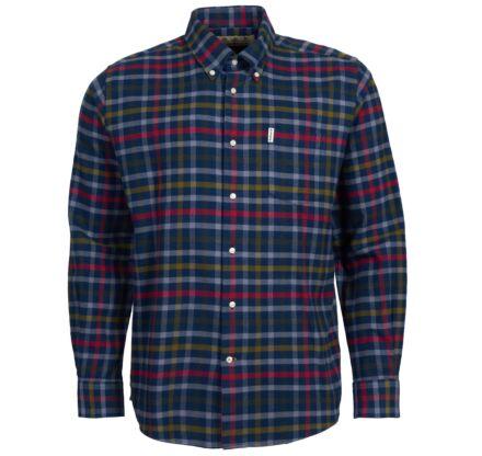 Barbour Hadlo Tattersall Shirt Navy