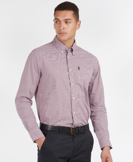 Barbour Gingham 23 Tailored Shirt Red