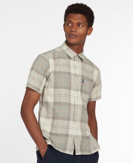 Barbour Tartan 17 Short Sleeve Summer Shirt Stone