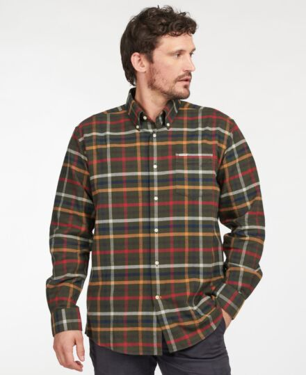 Barbour Hadlo Regular Fit Shirt Olive