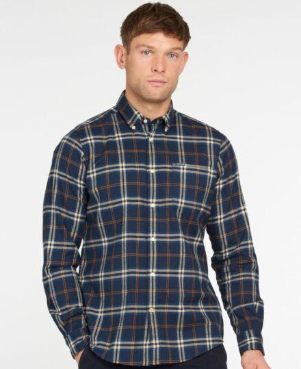 Barbour Crossfell Tailored Shirt Blue