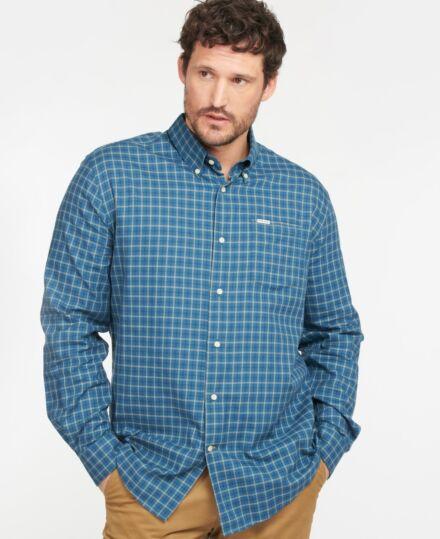 Barbour Preston Regular Fit Shirt Mid Blue