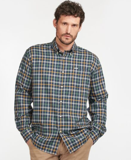 Barbour Coll Thermo Shirt Dark Navy