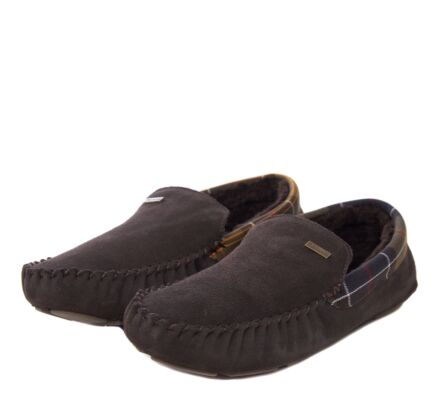 Barbour Mens Monty Moccasin Slippers Brown