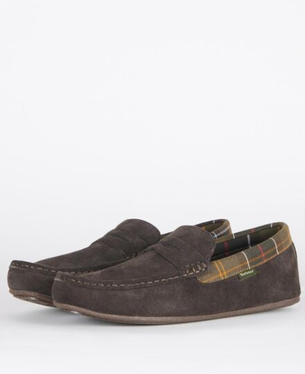 Barbour Porterfield Slippers Brown