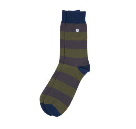 Barbour Oxton Socks Olive/Grey