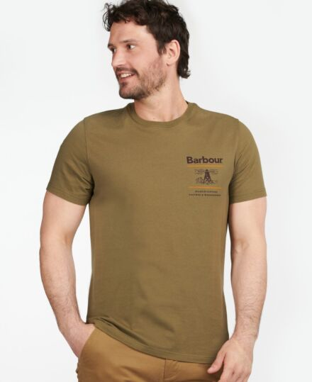 Barbour Reed Tee Olive
