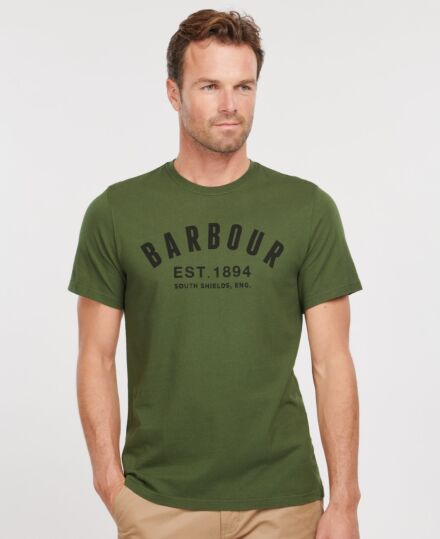 Barbour Ridge Logo Tee Duffle Green