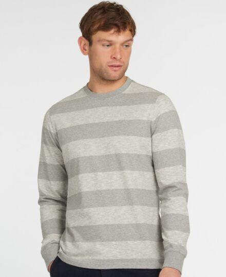 Barbour Ortun Striped Tee Grey Marl
