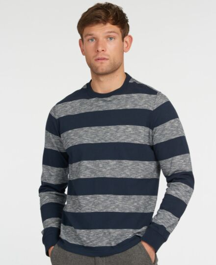 Barbour Ortun Striped Tee Navy