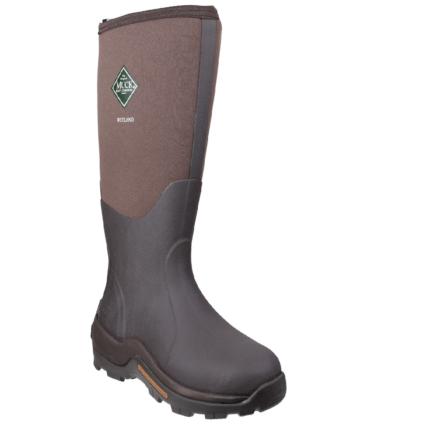 Muck Boots Wetland Hi Patterned Wellies Bark Dfs