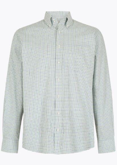 Dubarry Muckross Tattersall Shirt Dusky Green