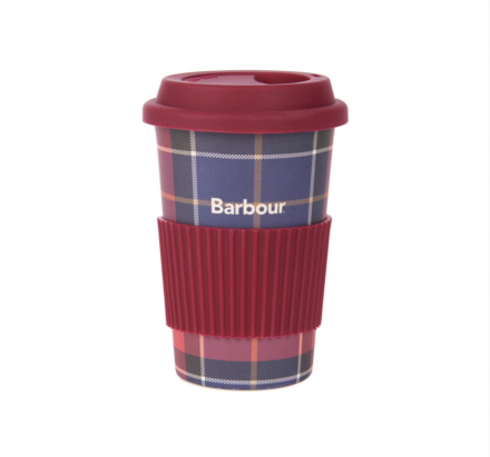 Barbour Tartan Travel Mug Red/Navy Tartan