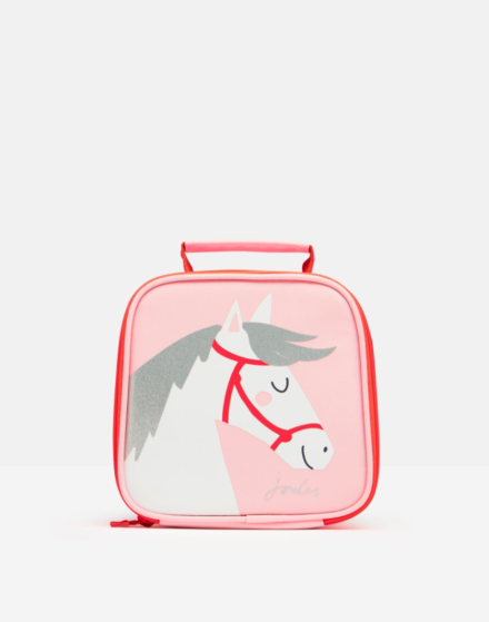 Joules Munchbag Lunch Bag Pink Horse
