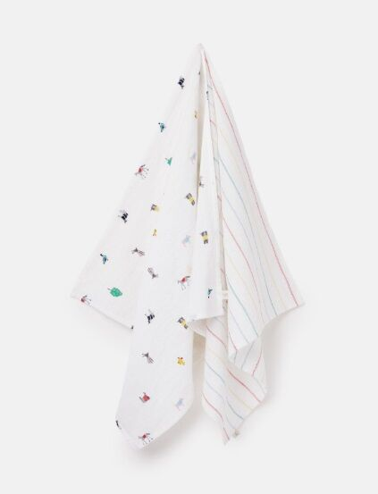 Joules Organic Cotton 2 Pack Muslin Squares