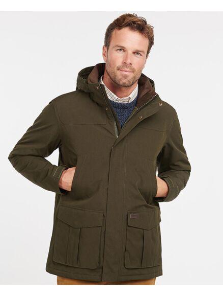 Barbour Brockstone Waterproof Jacket Dark Olive