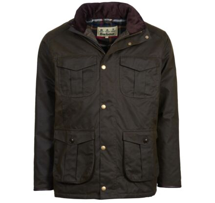 Barbour Latrigg Waxed Jacket Olive