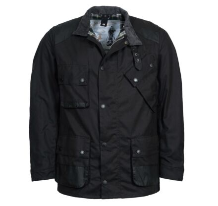 Barbour Men's Icons International Wax Jacket Black