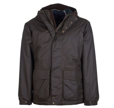 Barbour Grendle Waxed Cotton Jacket Olive