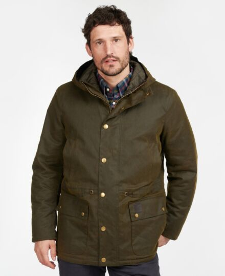 Barbour Ripon Waxed Jacket Olive