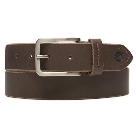Timberland Men's Narrow Leather Belt Brown