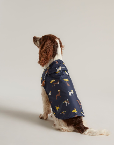 Joules Navy Dog Print Raincoat
