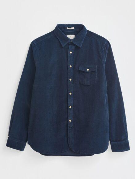 White Stuff Bradmore Cord Pocket Shirt Dark Navy