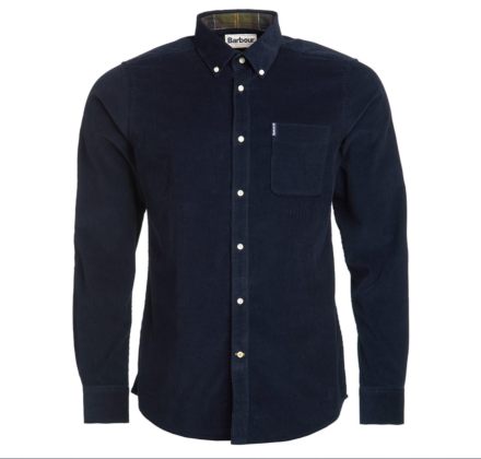 Barbour Cord 2 Tailored Shirt Navy
