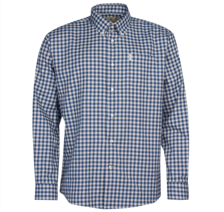 Barbour Thornley Thermo Weave Shirt Navy