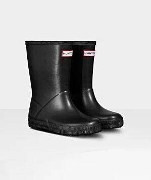 Hunter Kids First Classic Pearlised Nebula Boots Black