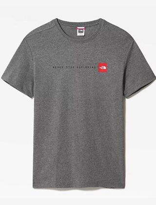 The North Face Never Stop Exploring Tee Grey Heather/Red