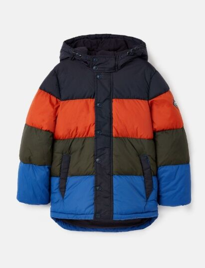 Joules Newbold Colourblock Padded Jacket Multi