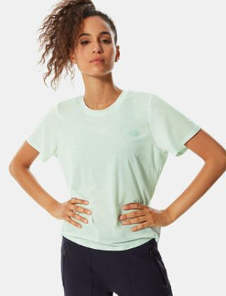 The North Face Wander Twisted Back T Shirt Misty Jade Heather