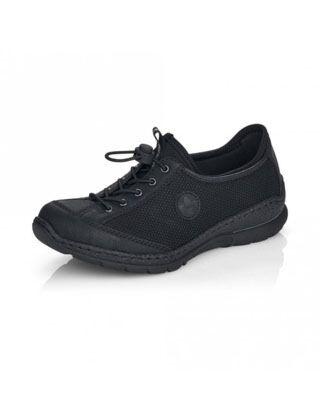 Rieker Nikita Lace Up Shoe Black
