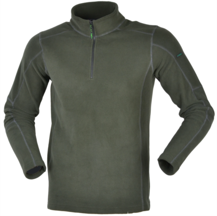 Ridgeline Norwegian Half Zipped Fleece Top Olive