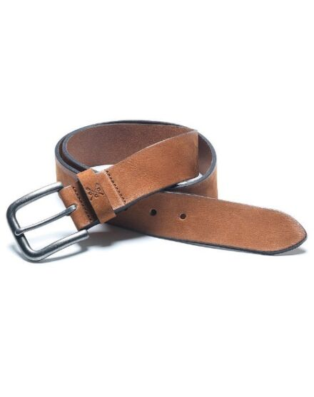 Crew Clothing Men's Nubuck Belt Tan