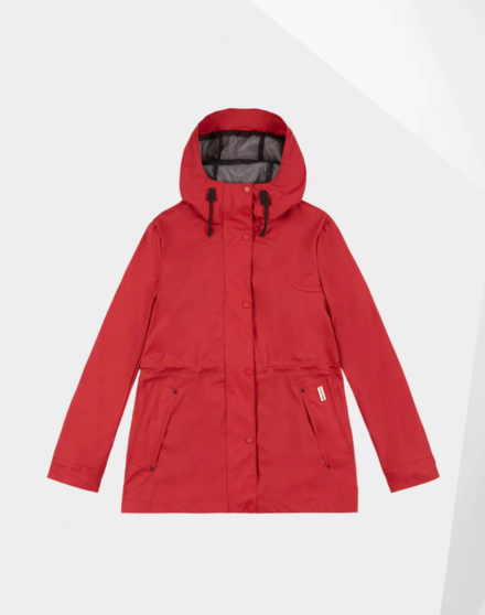 Hunter Women's Original Lightweight Waterproof Jacket Red