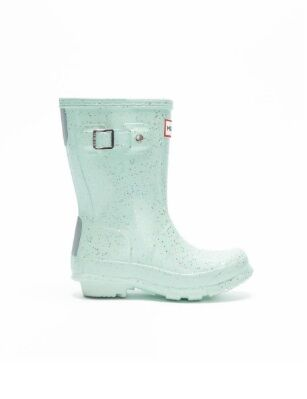 Hunter Original Kids Giant Glitter Boots Spearmint