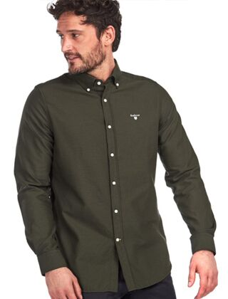 Barbour Oxford 3 Tailored Shirt Forest