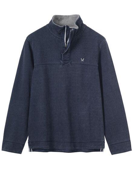 Crew Clothing Men's Padstow Pique Sweatshirt Dark Navy