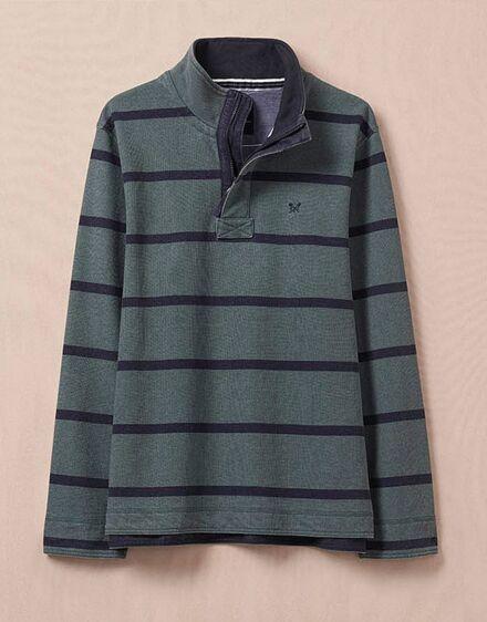 Crew Clothing Men's Padstow Pique Sweatshirt Fern/Navy