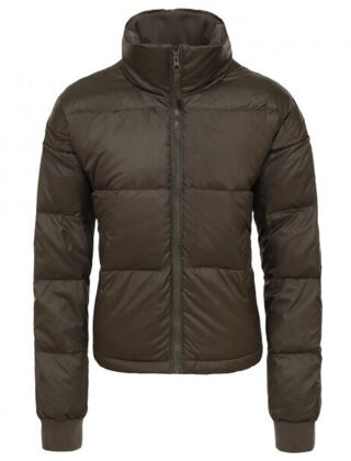 The North Face Women's Down Paralta Puffer Jacket Taupe Green/British Khaki