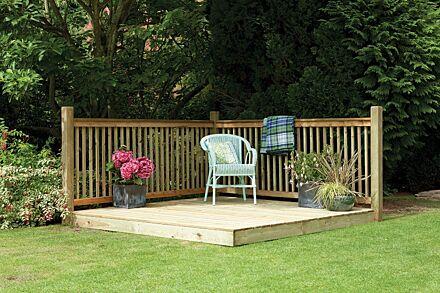 Forest Gardens Patio Decking Kit – 2.4 x 2.4m